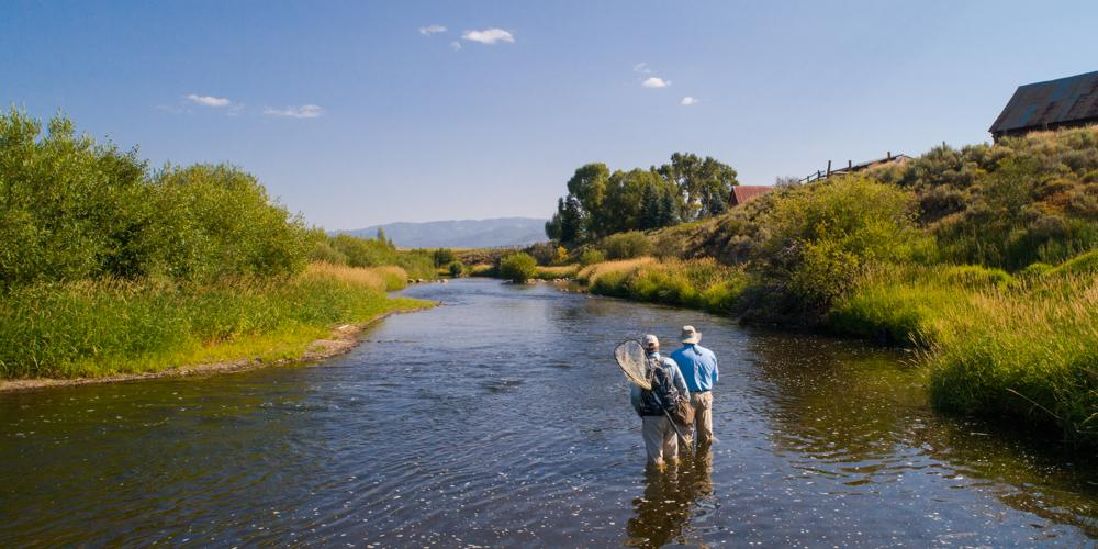 Access to a 1.5-mile private section of the trout-rich Yampa River